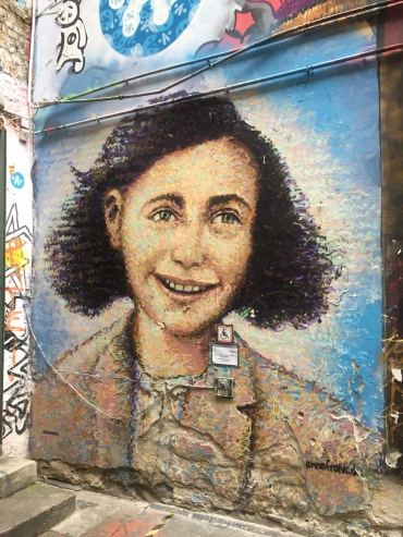 Anne Frank in Street Art Alley