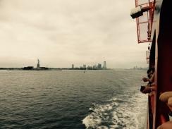 Staten Island Ferry and Lady Liberty