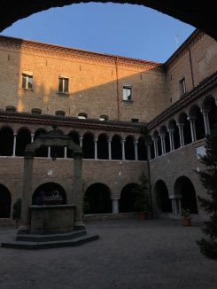 The medieval courtyard