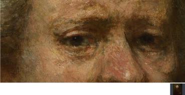 Eyes Rembrandt detail