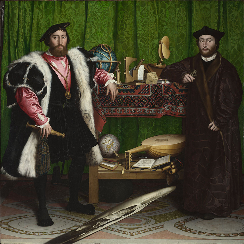 Holbein, The Ambassadors, 1533