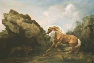 Horse Frightened by a Lion ?exhibited 1763 by George Stubbs 1724-1806